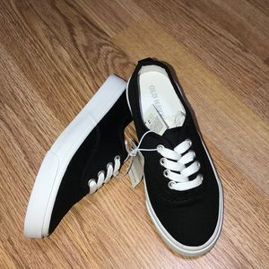 Black Canvas Sneakers